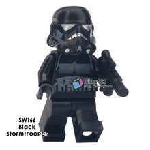Single Sale Customs Black Sith Shadow Stormtrooper Desert Storm Solider Black Storm Trooper Figure Building Blocks Children Toys(China)