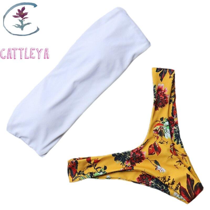 17d4d3b47346 ⃝Sexy traje de baño Halter vendaje traje de baño mujeres de alto ...