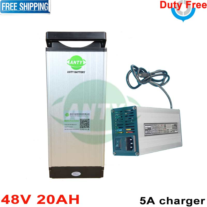 Free Duty and Shipping Electric Bike Battery 48v 20ah 1000w lithium battery 48v built-in 30A BMS 5A Charger ebike battery 48v free customs duty 1000w 48v ebike battery 48v 20ah lithium ion battery use panasonic 2900mah cell 30a bms with 54 6v 2a charger