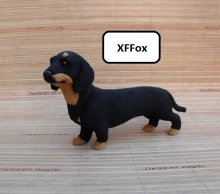 new real life dachshund dog model plastic&furs black doll gift about 21x5x12cm xf1498