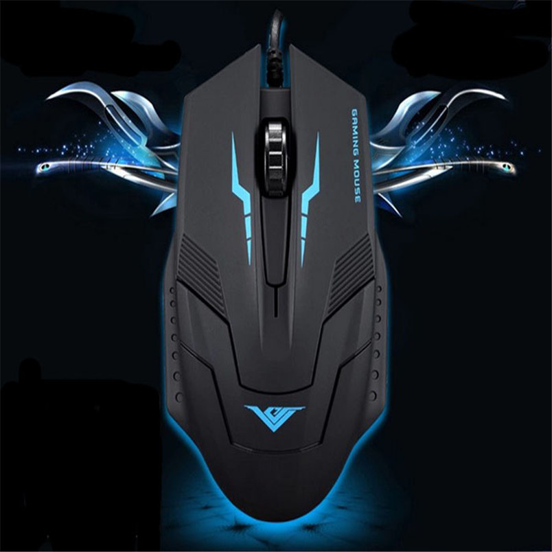 Reliable Optical mouse gamer 1600 DPI 3 Button Optical USB Wired Gaming Mouse Mice For PC Laptop