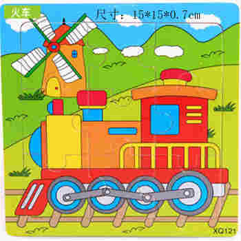 DIY Wooden Puzzle Jigsaw Toys wood Conveyance Model For Children Puzzles Intelligence Kids Early Children Educational Toys image