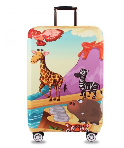 Luggage Cover Goldfish Castle Gold Fish Protective Travel Trunk Case Elastic Luggage Suitcase Protector Cover