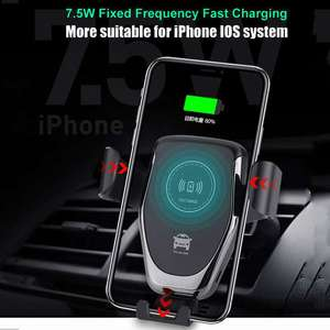 Image 5 - Cargador inalámbrico QI de 10W para coche, soporte de montaje para iPhone XS, Max, Samsung S9, Mi 9 Xiaomi, Huawei Mate 20 Pro, Mate 20 RS
