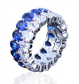 2016 New Fashion Multicolour Water Drop AAA CZ Crystal Rings For Women Wedding Party Jewelry Accessories Platinum Plated