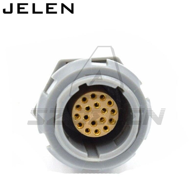 SZJELEN connectors 2p-serie 18pin connector, CAB.M18.GLA.CxxG CKB.M18.GLLG , Medical connectors 18pin plug and socket