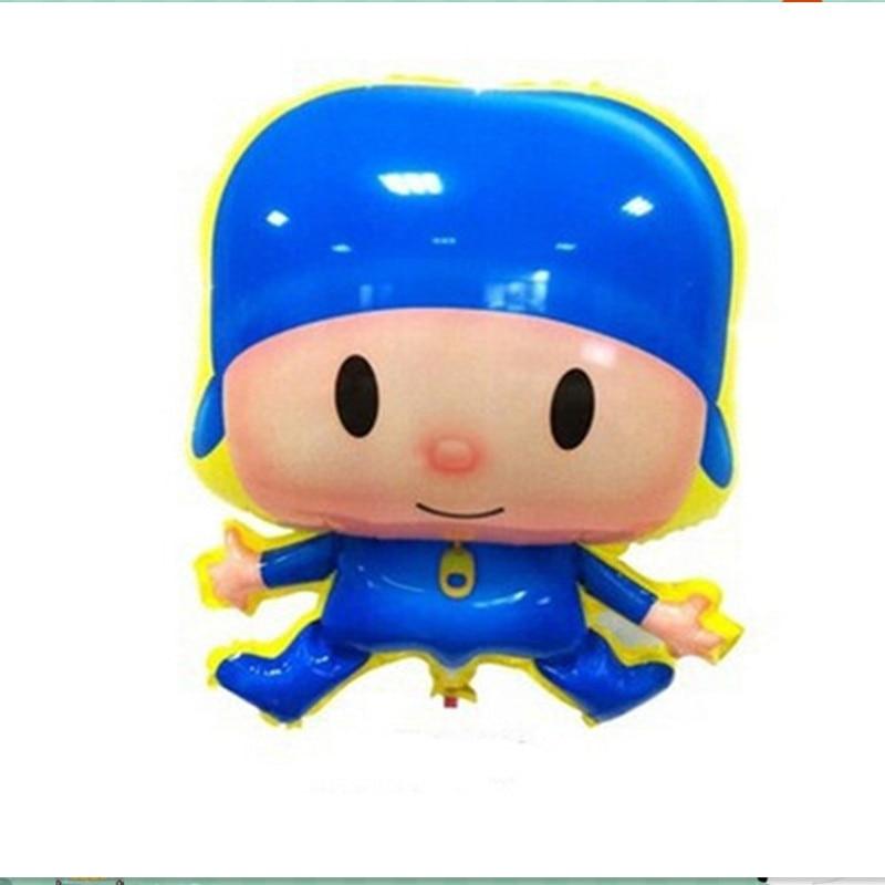 2 unids 3D pvc azul de dibujos animados niño globos, niños juguetes - Para fiestas y celebraciones