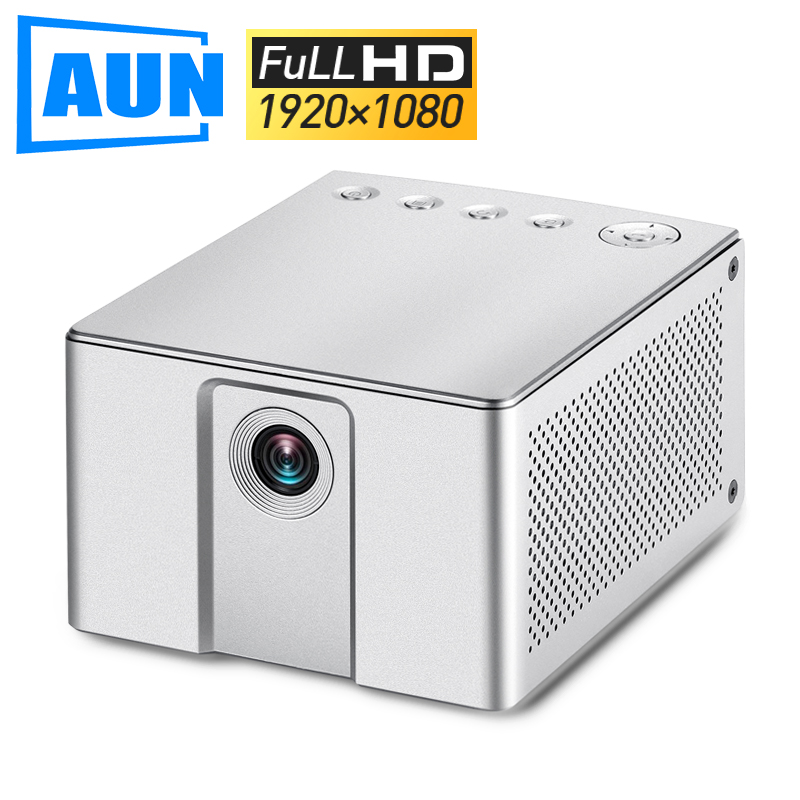 AUN Full HD Projector J20 1920 1080P Built in Android WIFI 10000mAh Battery Portable Mini Projector