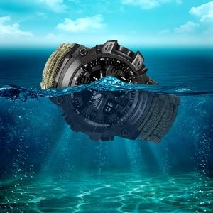 Image 4 - Addies choque esporte relógio grande dial quartzo digital militar à prova dmilitary água masculino relógios de pulso masculino relógio esportivo masculino com bússola