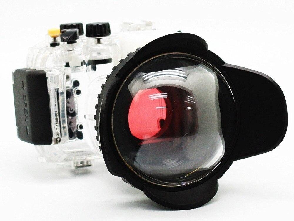 Boîtier de caméra sous-marine 40 M/130FT pour Canon Powershot G16 boîtier étanche + objectif grand Angle 67mm Fisheye + filtre rouge
