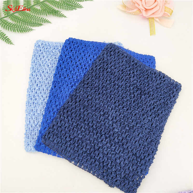 9inch Chest children 20*23CM Elastic Wrapped Chest Knit Girl Crochet Headband tulle Tutu Tube Tops Wide DIY Skirt 6zSH939
