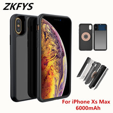 6000mAh Power Bank Battery Charger Case For iphone XS MAX External Backup Charging