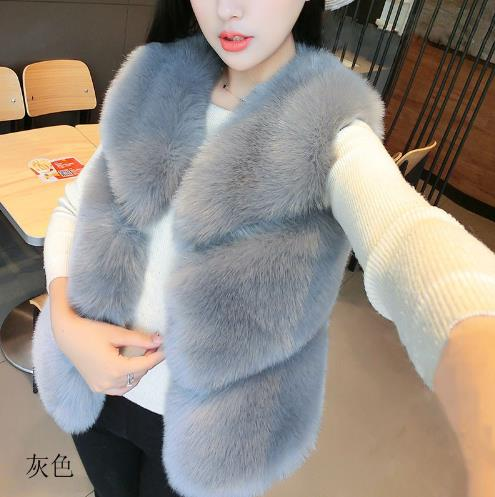 Plus Fausse Artificielle Faux Femme Manteau Femmes La Gilet D'hiver Z11 Taille Vetement De Fourrure 2018 Gilets Vestes wq710ZAt