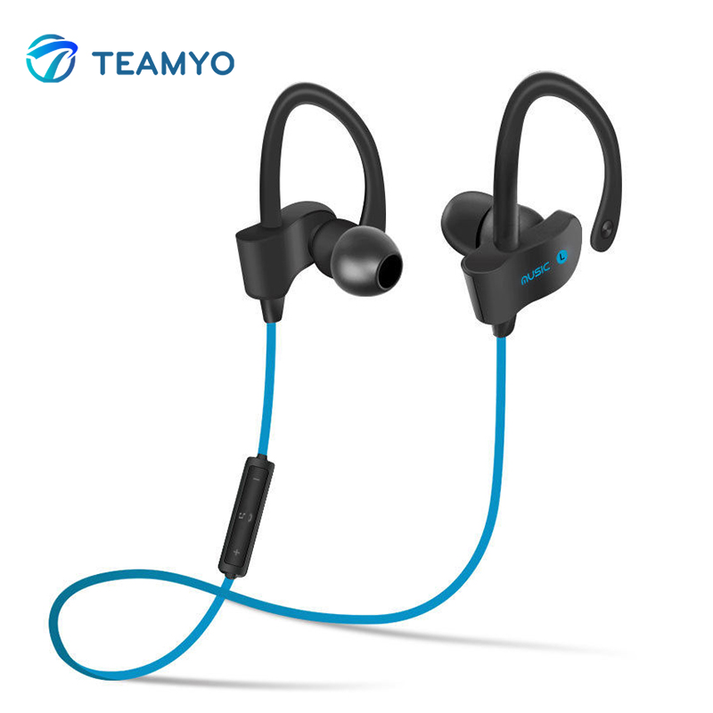 Teyo Bluetooth Wireless Headphones Sport Hands-Free Earphone Stereo Music Headset Headphones With Mic For iPhone 7 Samsung Phone wireless headphones bluetooth headset sport running magnetic stereo neckband earphone with mic csr 4 1 for phone iphone samsung