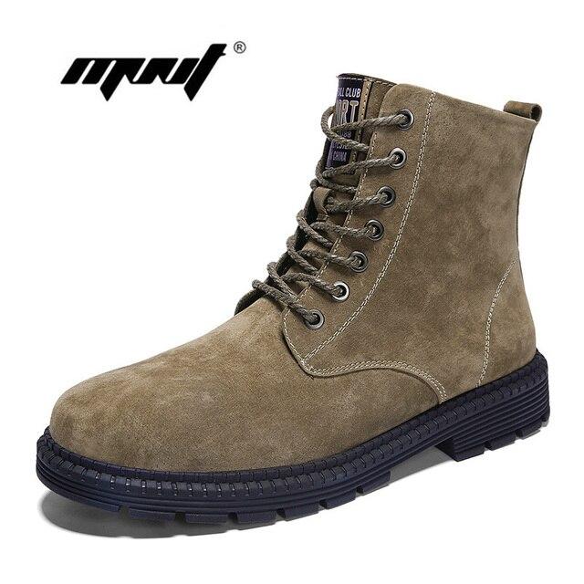 Hohe Qualität Herbst Schuhe Männer Aus Echtem Leder Männer Stiefel Wasserdichte Stiefeletten Outdoor Komfortable Männer Schuhe Dropshipping