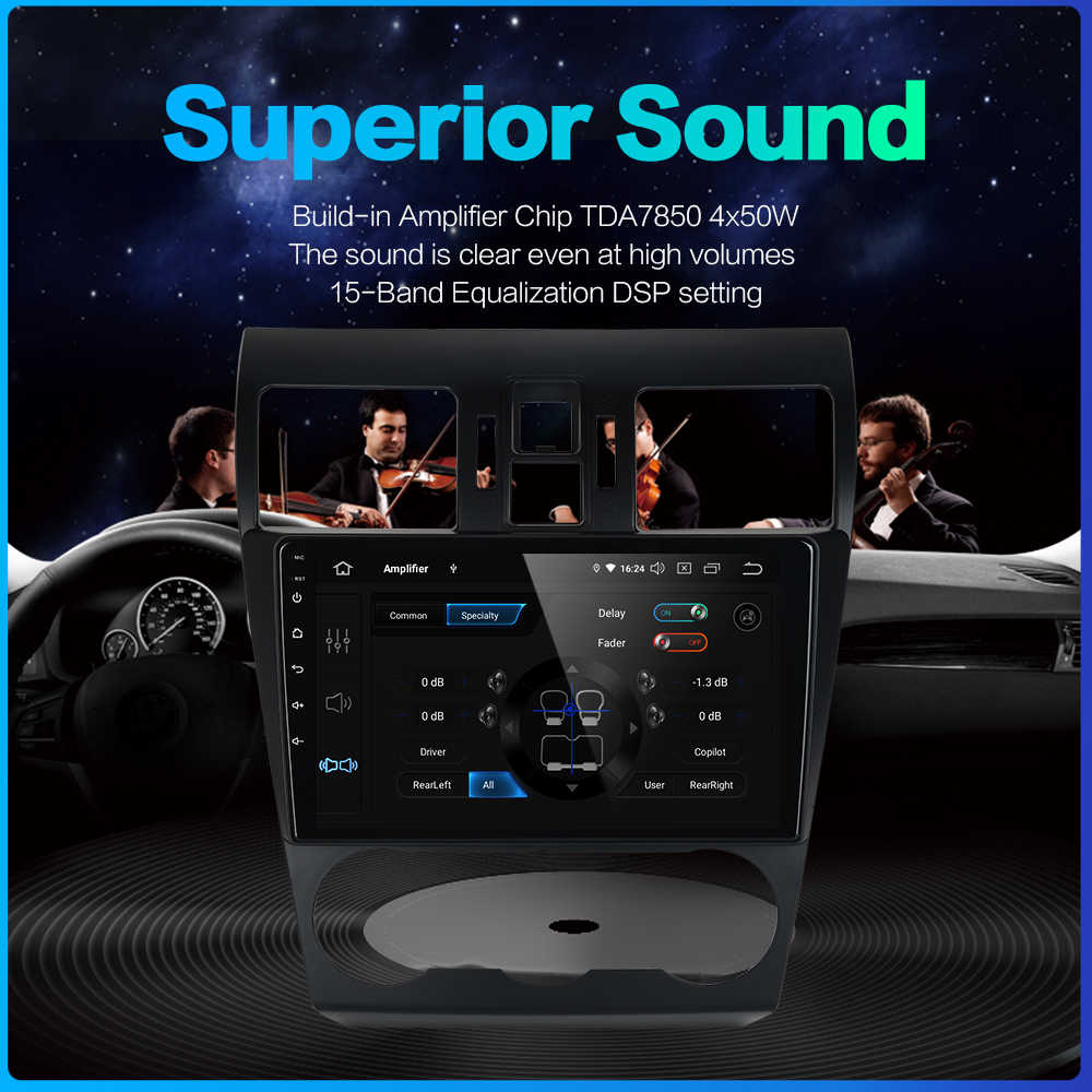 """Fongent 1 din Radio Car Android 9.0 for Subaru forester 2013 2014 2015 2016 WRX VX Vehlce 9"""" IPS Multi Touch Screen Autoradio"""