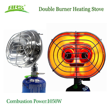 цена на Double Burner Heating Stove Infrared Ray Heater Gas Heater Camping Warmer Heating Gas Stove For Winter Camping Outdoor Fishing