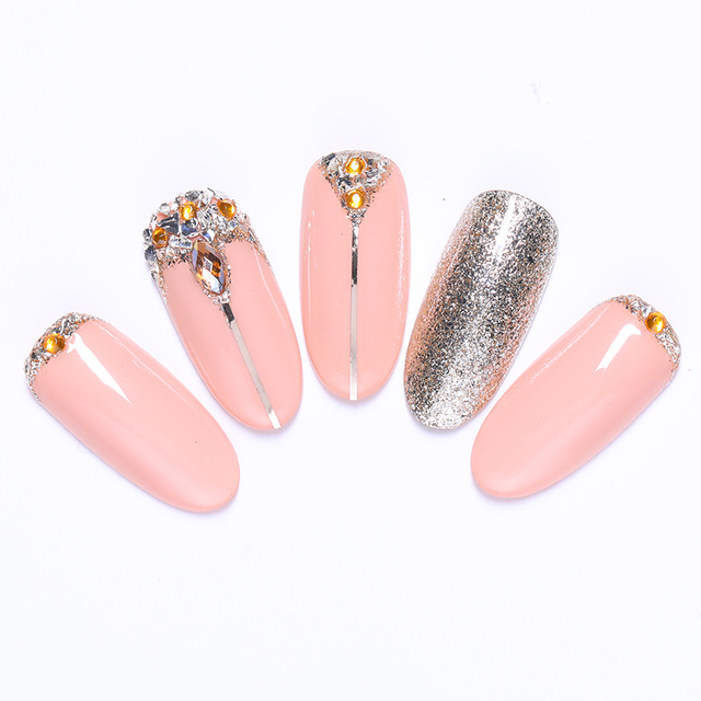 12 Grids/Box Flat Bottom Nail Rhinestones