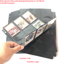 30 Pages Choice, 540 Pockets, Top Loading Black Color Series Card Page Protector for Standard Size Board Game Cards 10pages 100pages choice 9 pocket clear series card page protector for standard size cards
