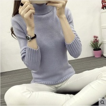 New arrival Female girls Sweater Women turtleneck Knitted sweaters And Pullovers Long Sleeve Pull Femme winter Cashmere Pullover