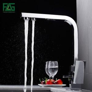 FLG квадратный кухонный кран, латунный кран, вращение на 360 градусов, с очисткой воды, характеристики смесителей, смеситель для кухни 1024-33C