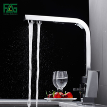 Kitchen Faucets Features-Mixer Water-Purification FLG Brass Tap Rotation with for 1024-33C