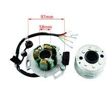 Бездорожье Мотокросс магнит двигатель статор катушки наборы питбайк высокоскоростной магнит двигатель статор катушка подходит для Lifan 150cc двигатель CQ-125