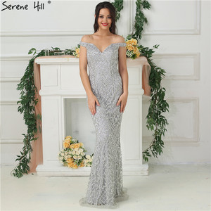 Image 2 - 2020 Luxury High end Fashion Mermaid Evening Dresses Newest Diamond Sequined Sexy Formal Dress  Real Photo LA6406