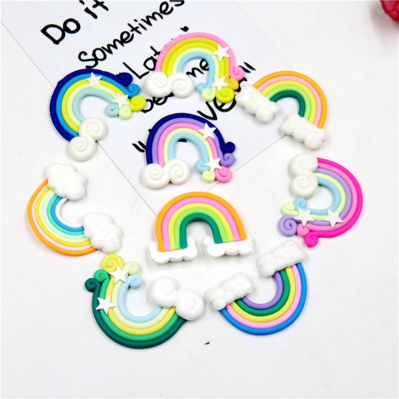 1PCS Dazzling Rainbow Swirl Lollipop WITHOUT CLIP Girl Hair Accessory For DIY Headdress Semi-finished Products 2019 Accessories