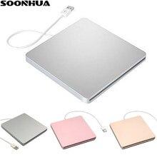 SOONHUA USB 2.0 CD Player DVD Drive External CD-RW Writer Rewriter DVD-RW CD DVD ROM Player Drives For IMac MacBook Laptop