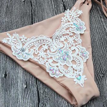 Kmnovo 2018 Crystal Bikinis Women Sexy Swimwear Swimsuit Bandage Bathing Suit Women Bikini Set Hot Beach wear 4