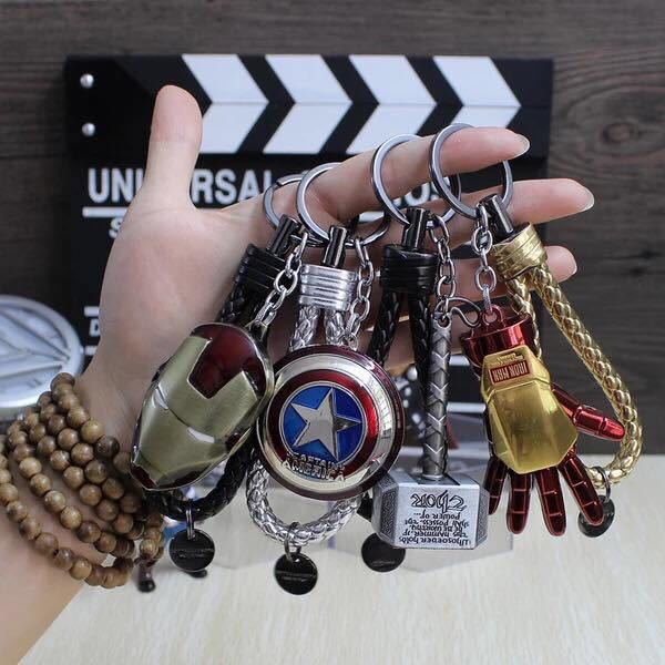 Avengers Alliance Super Hero Keychain Iron Man Captain America Star Wars Spider-man Arrow Superman Shield Batman Key Chain Ring