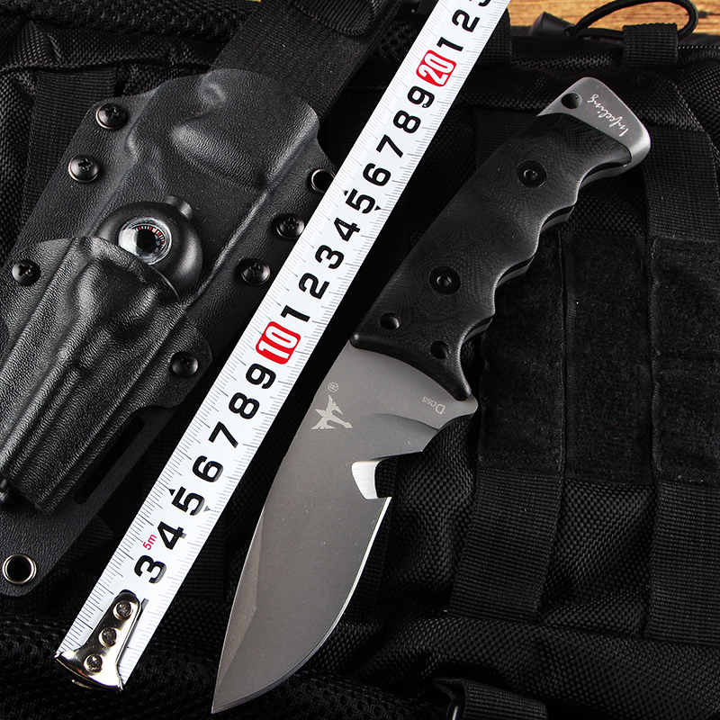 Small Tactical Fixed Knives DC53 Steel Blade G10 Handle Hunting Knives Camping Knife K Sheath EDC Multi Tools