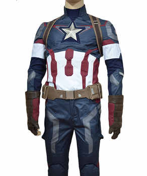 Captain America Cosplay Costume Steve Rogers Halloween Set Outfit Adult Superhero Halloween Costume