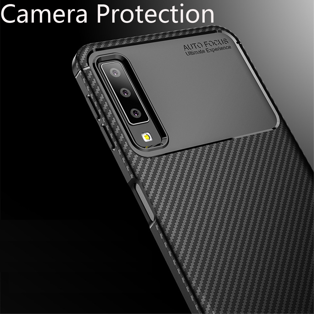 Phone Case For Cover Samsung Galaxy A7 2018 Case Fashion Soft Silicone TPU Shockproof Cover For Galaxy A750 A7 2018 Case Cover in Fitted Cases from Cellphones Telecommunications