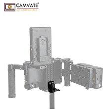 "CAMVATE אוניברסלי אור מוט מתאם מחבר עם 2pcs 1/4 "" 20 הרכבה ברגים עבור מצלמה צג כלוב אור מוט חיבור"