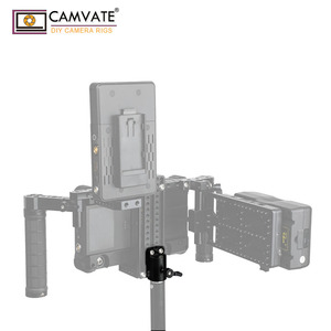 """Image 1 - CAMVATE Universal Light Pole Adapter Connector With 2pcs 1/4"""" 20 Mounting Screws For Camera Monitor Cage Light Pole Connection"""