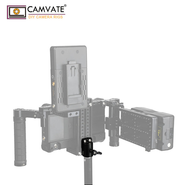 """CAMVATE Universal Light Pole Adapter Connector With 2pcs 1/4"""" 20 Mounting Screws For Camera Monitor Cage Light Pole Connection"""