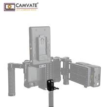 """CAMVATE evrensel işık kutuplu adaptör konnektörü ile 2 adet 1/4 """" 20 için montaj vidaları kamera monitörü kafes ışık direği bağlantısı"""