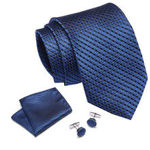 2019 New Wedding Gift Men Tie Red Blue Striped Fashion Designer Ties set For Business Dropshiiping  Groom wedding