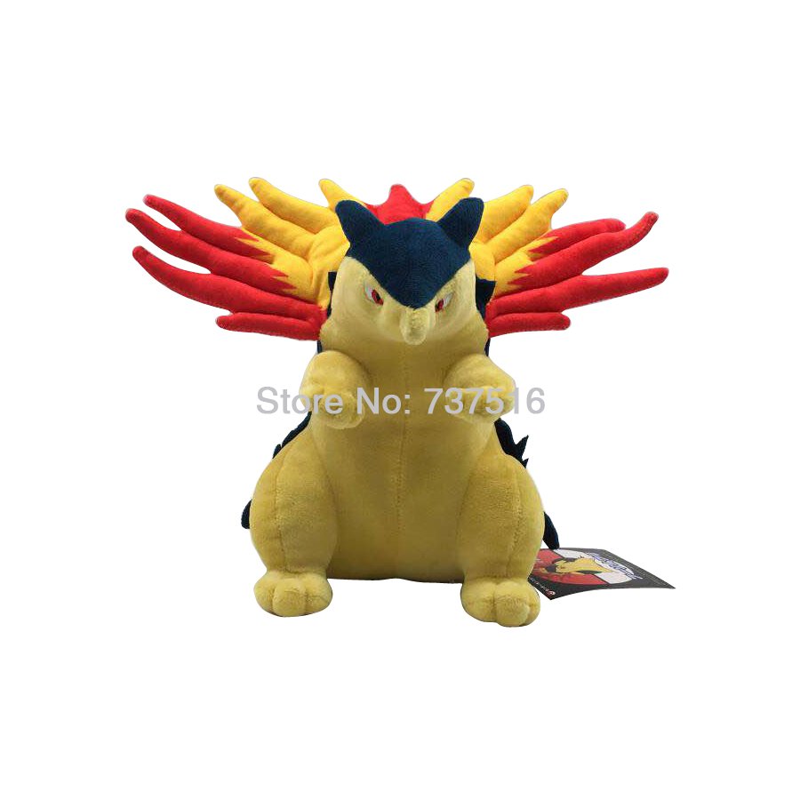 New  Anime 25cm Typhlosion Plush Stuffed Animal Soft Doll Toys for Children Gift 10 inches