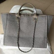 Guqiwt роскошные сумки Для женщин сумка известных брендов дизайнер холст feminina SAC дамы пляжная сумка большой Ёмкость плечо сумка-шоппер
