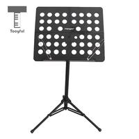 Tooyful Adjustable Alloy Tripod Music Stand Music Score Note Holder for Musician Concert Stage Accessory Black