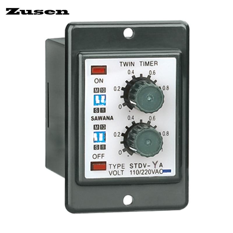 цена на Zusen ATDV-YC twin time relay multi range variable DC12V/24V/36V/AC110V/220V/380V