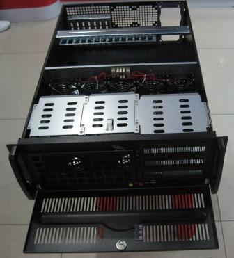 4U 650MM all black 4U server chassis 12X13 board industrial control case no disk server 1u 2u 3u 4u chassis guide industrial server cabinet pull the three guide rails