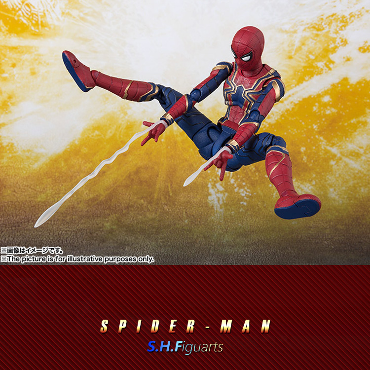 Avengers infinity war Superhero SHF Spider-Man Peter Parker Iron Man's teammates PVC figurine d'action