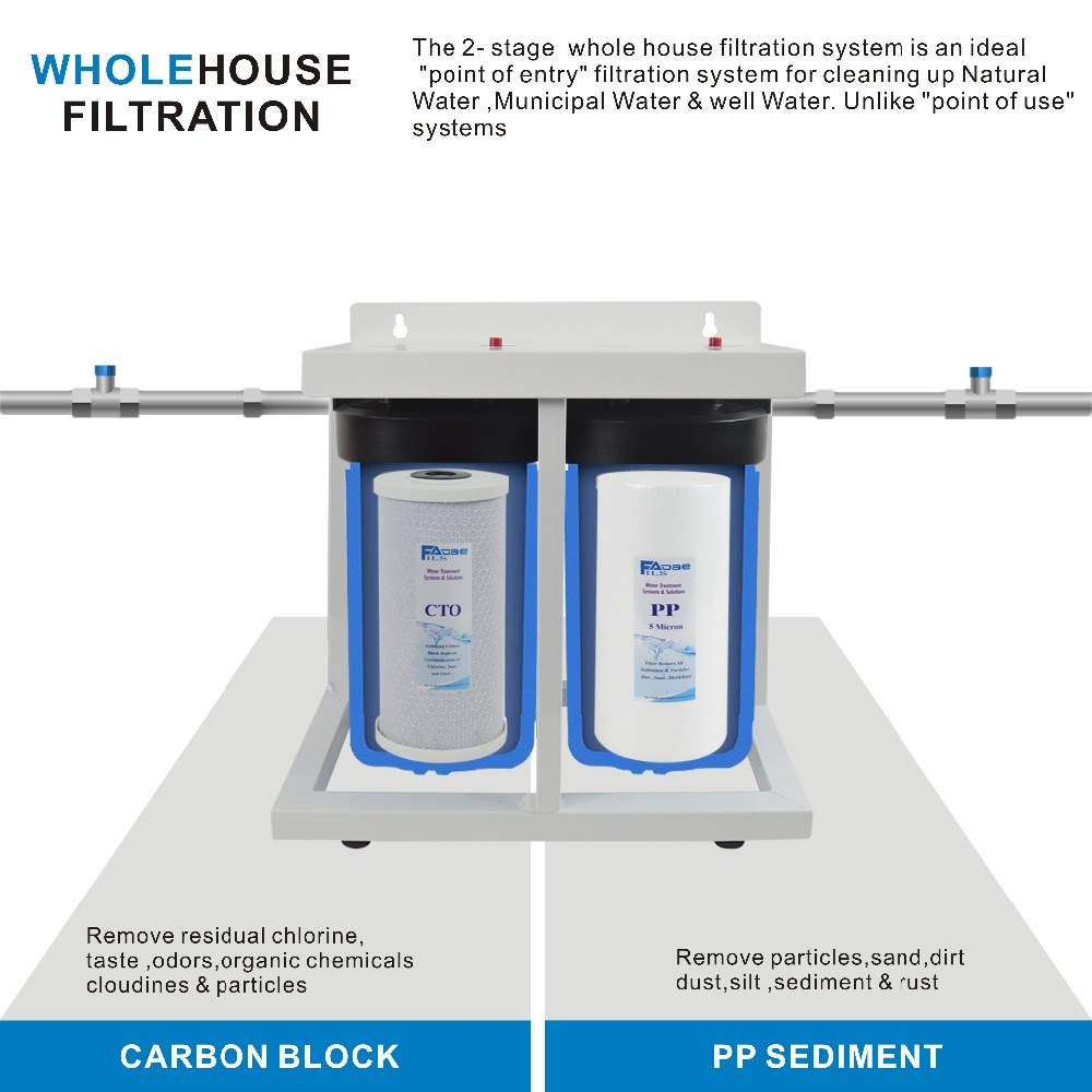 US $179 0 |2 Stage Whole House Water Filtration System With Stand ,4  1/2