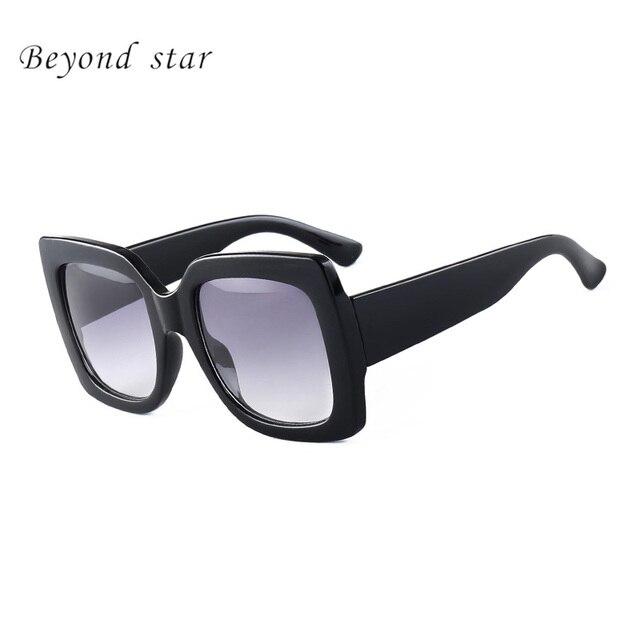 BEYOND STAR 2017 Luxury Brand Design Square Mirror Sunglasses Women Ladies Big Sun Glasses Female Eyewear Oculos De Sol Shades
