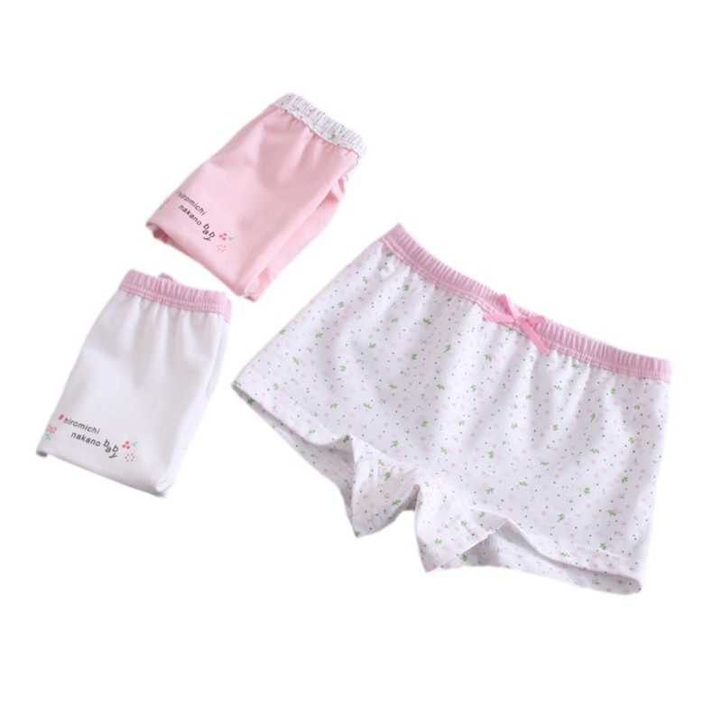 3Pcs/lot Girls Cotton Underwear Soft Breathable Kid Print Boxer 0-12Yrs Baby Panties Cute Panty Briefs Underpants
