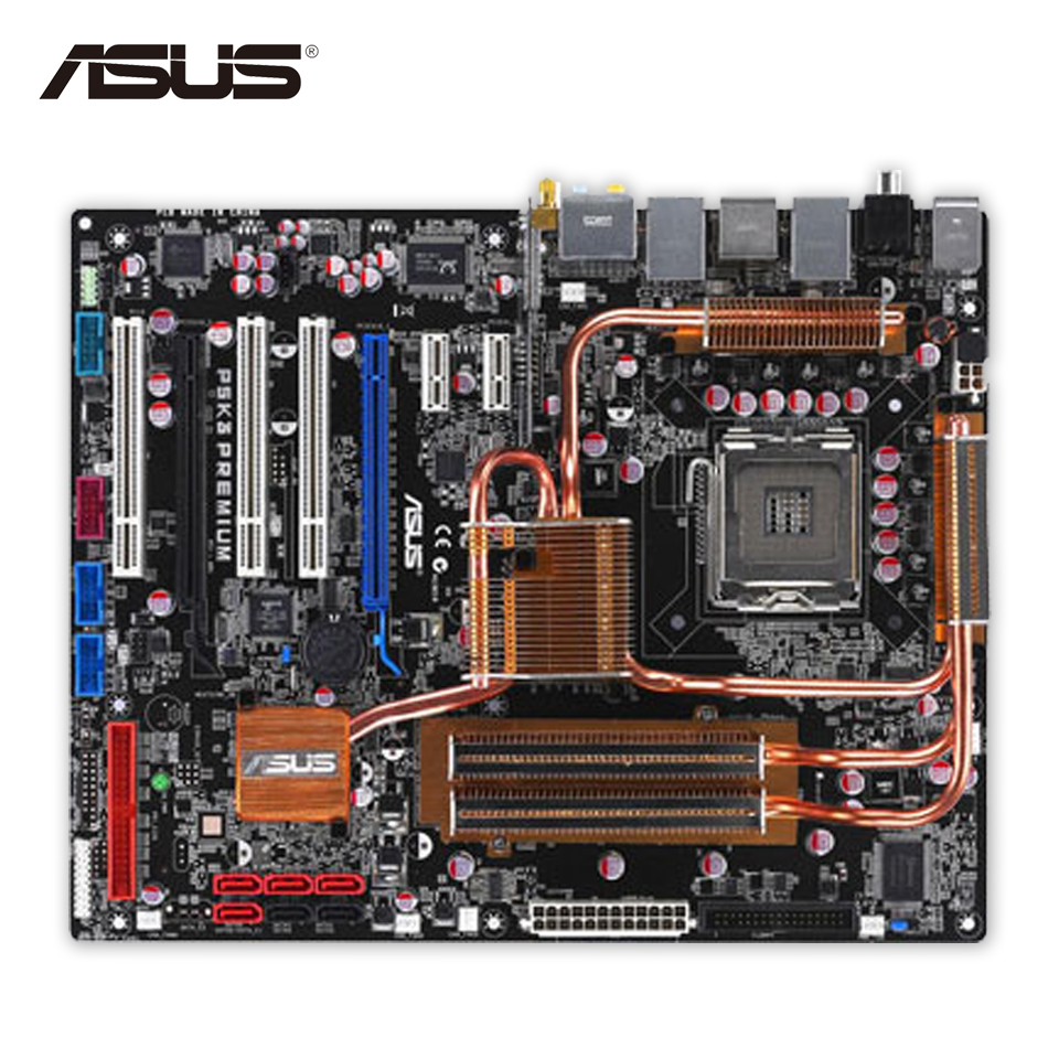 Asus P5K3 Premium/WiFi-AP Desktop Motherboard P35 Socket LGA 775 DDR3 SATA2 ATX Second-hand High Quality